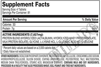 Съдържание » Дозировка » Прием » Как се пие » 100% Ultra-Premium Amino 7000 » MuscleTech » Комплексни аминокиселини