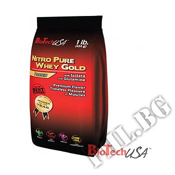 Съдържание » Дозировка » Прием » Как се пие »  Nitro Pure Whey 454 gr » BioTech USA » Суроватъчен протеин