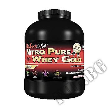 Съдържание » Дозировка » Прием » Как се пие »  Nitro Pure Whey Gold 908 gr » BioTech USA » Суроватъчен протеин