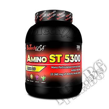 Съдържание » Дозировка » Прием » Как се пие » Amino ST 5300 350tab » BioTech USA » Комплексни аминокиселини