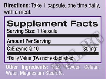 Съдържание » Дозировка » Прием » Как се пие » Коензим Q-10 30mg 30caps » Natrol » Коензим Q10