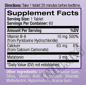 Съдържание » Дозировка » Прием » Как се пие » Melatonin 3 mg 60 tabs » Natrol » Здрав сън