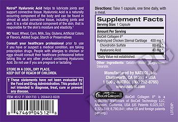 Съдържание » Дозировка » Прием » Как се пие » Hyaluronic Acid 40 мг » Natrol » Хиалуронова киселина