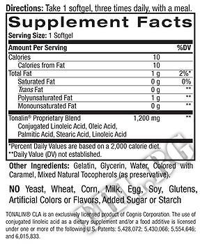 Съдържание » Дозировка » Прием » Как се пие »  Tonalin CLA 1200 mg » Natrol » Фет блокери CLA