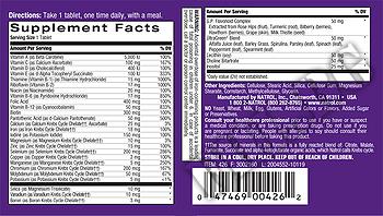 Съдържание » Дозировка » Прием » Как се пие » My Favorite Multiple Тake One » Natrol » Мултивитамини