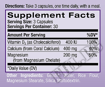 Съдържание » Дозировка » Прием » Как се пие » Корал Калций с Магнезий и Витамин D3  » Natrol » Витамини и минерали