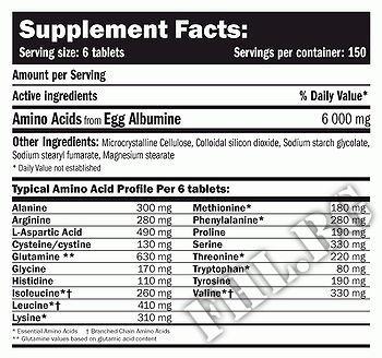 Съдържание » Дозировка » Прием » Как се пие » EGG Amino 6000 » AMIX » Яйчни аминокиселини