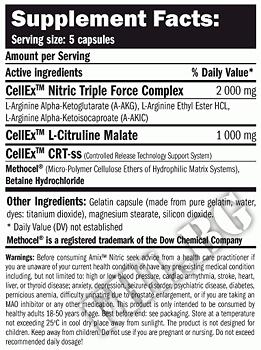 Съдържание » Дозировка » Прием » Как се пие » Nitric / 125 Caps » AMIX » Азотни бустери