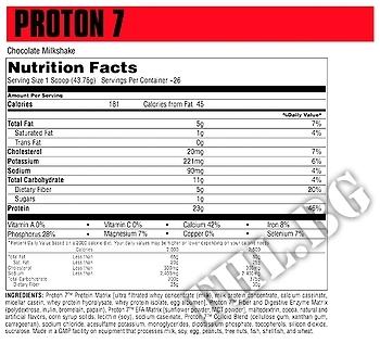 Съдържание » Дозировка » Прием » Как се пие » Proton 7 5lbs » Universal Nutrition » Протеинова матрица