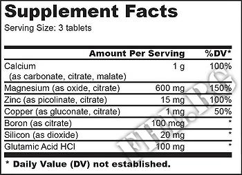 Съдържание » Дозировка » Прием » Как се пие » Calcium Zinc Magnesium  » BioTech USA » Калций