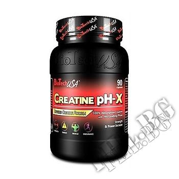 Съдържание » Дозировка » Прием » Как се пие » Creatine PH-X 90caps » BioTech USA » Креатин