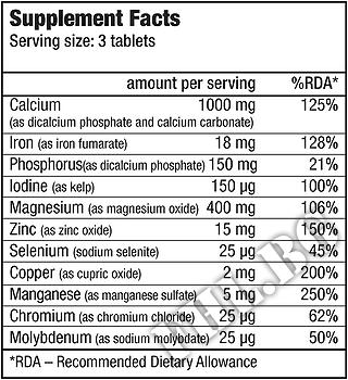 Съдържание » Дозировка » Прием » Как се пие »  Multi Mineral Complex » BioTech USA » Витамини и минерали