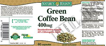 Съдържание » Дозировка » Прием » Как се пие » Green Coffee Bean NB » Nature's Bounty » Зелено кафе