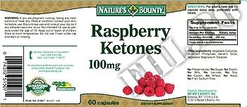 Съдържание » Дозировка » Прием » Как се пие » Raspberry Ketones 100 mg » Nature's Bounty » Малинови кетони