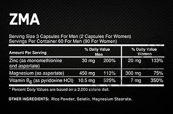 Съдържание » Дозировка » Прием » Как се пие » ZMA OP » Optimum Nutrition » Цинк-Магнезий