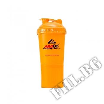 Съдържание » Дозировка » Прием » Как се пие » Shaker Monster Bottle-оранжев » AMIX » Шейкъри