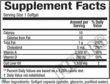Съдържание » Дозировка » Прием » Как се пие » Super Cod Liver Oil  » Natural Factors » Мастни киселини