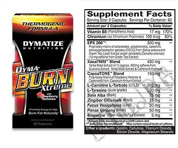 Съдържание » Дозировка » Прием » Как се пие » dyma-burn xtreme 60 капс » Dymatize  » Термогенни фетбърнъри