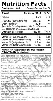 Съдържание » Дозировка » Прием » Как се пие »  Liquid L-Carnitine 3000mg+Зелен Чай » EverBuild » Течен Л карнитин