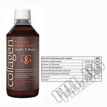Съдържание » Дозировка » Прием » Как се пие »  Колаген Про Актив » Collagen Pro-Active » Колаген