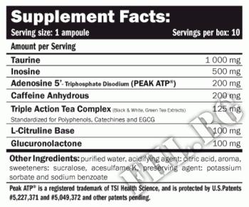 Съдържание » Дозировка » Прием » Как се пие » ATP Energy Liquid » AMIX » Енергийни Шотове и Гелове
