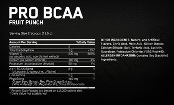 Съдържание » Дозировка » Прием » Как се пие »  PRO BCAA » Optimum Nutrition » BCAA на прах