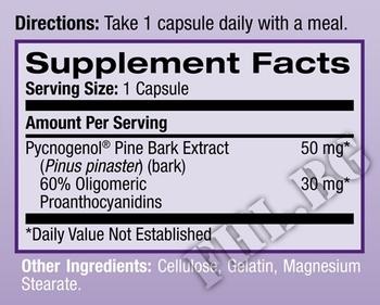 Съдържание » Дозировка » Прием » Как се пие »  Pycnogenol 50mg » Natrol » Антиоксиданти