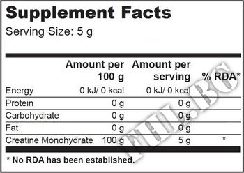 Съдържание » Дозировка » Прием » Как се пие » 100 % creatine 300g » Scitec » Креатин монохидрат