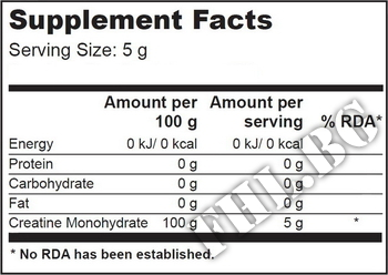 Съдържание » Дозировка » Прием » Как се пие » 100 % Creatine 500g  » Scitec » Креатин монохидрат