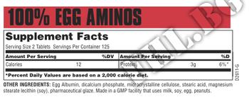 Съдържание » Дозировка » Прием » Как се пие » 100 Egg Amino-250 tabs » Universal Nutrition » Яйчни аминокиселини