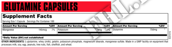 Съдържание » Дозировка » Прием » Как се пие » Glutamine 100 caps » Universal Nutrition » Глутамин на капсули