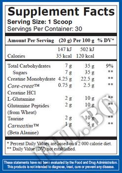 Съдържание » Дозировка » Прием » Как се пие » CGT + Beta Alanine 600g. » Mex Nutrition » Креатин-Глутамин-Таурин