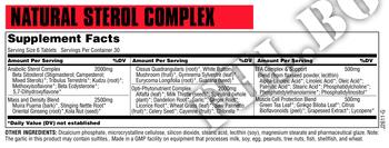 Съдържание » Дозировка » Прием » Как се пие »  Natural Sterol Complex 180tab » Universal Nutrition » Формули за мъже