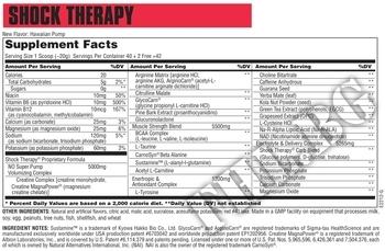 Съдържание » Дозировка » Прием » Как се пие » Shock Therapy » Universal Nutrition » Азотни бустери