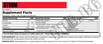 Съдържание » Дозировка » Прием » Как се пие » Storm 756 g » Universal Nutrition » Креатинова матрица