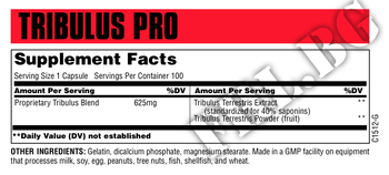 Съдържание » Дозировка » Прием » Как се пие »  Tribulus Pro 625 мг  » Universal Nutrition » Трибулус Терестрис