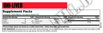 Съдържание » Дозировка » Прием » Как се пие » Uni Liver 500 tab » Universal Nutrition » Телешки аминокиселини