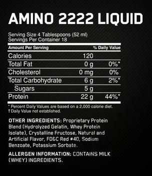 Съдържание » Дозировка » Прием » Как се пие » Amino 2222 Liquid - 946 мл » Optimum Nutrition » Течни аминокиселини