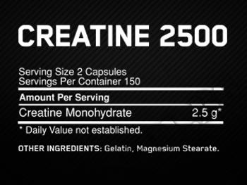 Съдържание » Дозировка » Прием » Как се пие » Creatine 2500 200 caps » Optimum Nutrition » Креатин монохидрат