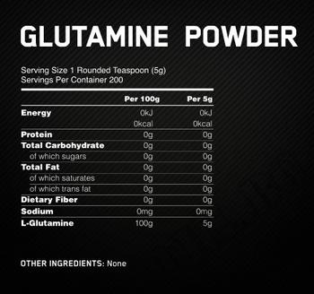 Съдържание » Дозировка » Прием » Как се пие » Glutamine Powder OP 150gr » Optimum Nutrition » Глутамин