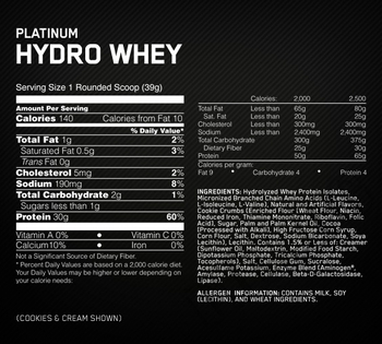 Съдържание » Дозировка » Прием » Как се пие » Hydro Whey 1.75 lbs » Optimum Nutrition »   Суроватъчен изолат
