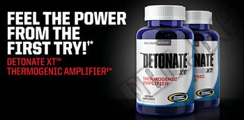 Съдържание » Дозировка » Прием » Как се пие »  Detonate XT » Gaspari Nutrition » Термогенни фетбърнъри