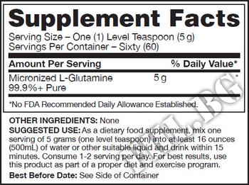 Съдържание » Дозировка » Прием » Как се пие »  Glutamine GN 300gr » Gaspari Nutrition » Глутамин