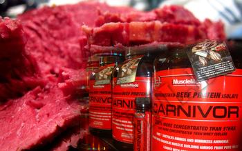 Съдържание » Дозировка » Прием » Как се пие »  Carnivor Beef Protein Isolate 4 lb » MuscleMeds » Телешки протеин