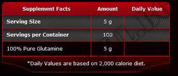 Съдържание » Дозировка » Прием » Как се пие » 100% Pure Glutamine 1000  » Pure Nutrition » Глутамин