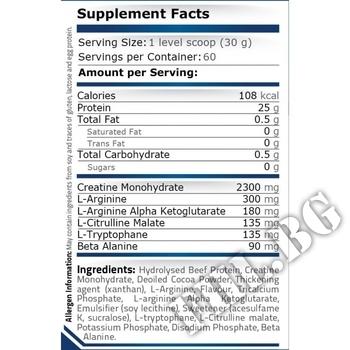 Съдържание » Дозировка » Прием » Как се пие » Beef Protein - 30 g » Pure Nutrition » Телешки протеин