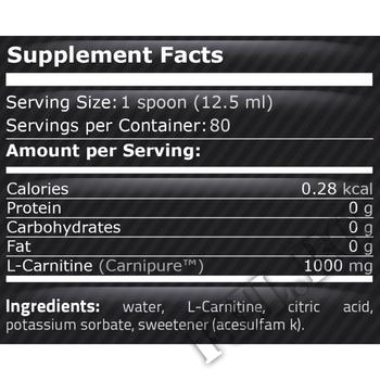 Съдържание » Дозировка » Прием » Как се пие » Carni-X 1000 1000ml L-Carnitine Liquid » Pure Nutrition » Течен Л карнитин