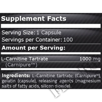 Съдържание » Дозировка » Прием » Как се пие »  Carnipure L-Carnitine 1000 100 caps » Pure Nutrition » Л-карнитин
