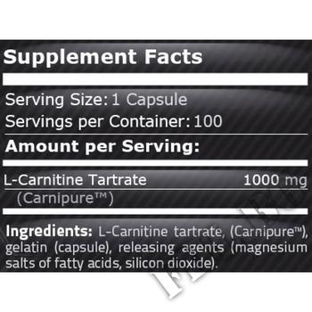 Съдържание » Дозировка » Прием » Как се пие »  Carnipure L-Carnitine 1000 30 caps » Pure Nutrition » Л-карнитин