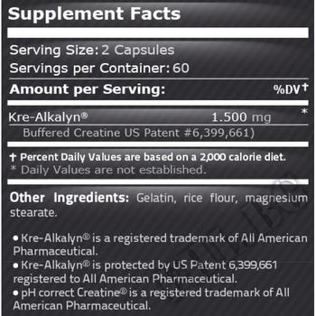 Съдържание » Дозировка » Прием » Как се пие » Kre-alkalyn 120 caps » Pure Nutrition » Кре-алкалин